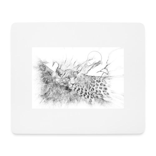 La panthère dans l'arbre - Tapis de souris (format paysage)