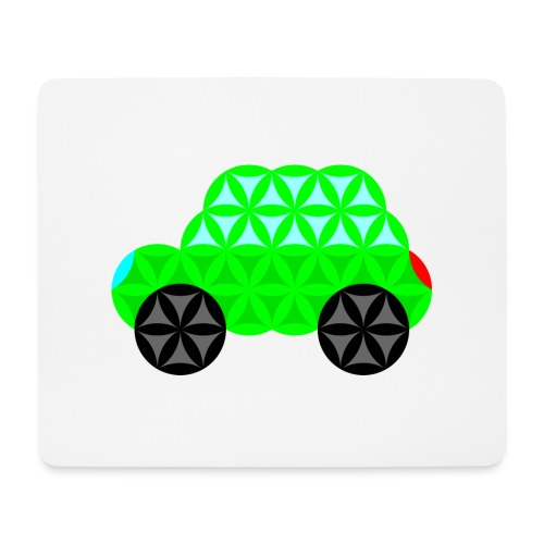 The Car Of Life - M01, Sacred Shapes, Green/R01. - Mouse Pad (horizontal)