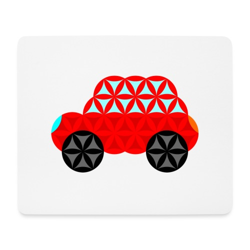 The Car Of Life - M01, Sacred Shapes, Red/R01. - Mouse Pad (horizontal)