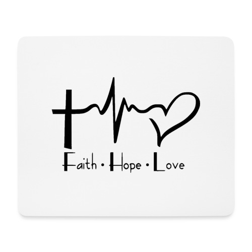 faith hope love - Tapis de souris (format paysage)