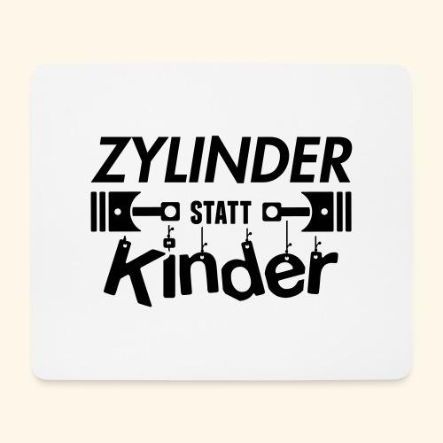 Zylinder Statt Kinder - Mousepad (Querformat)