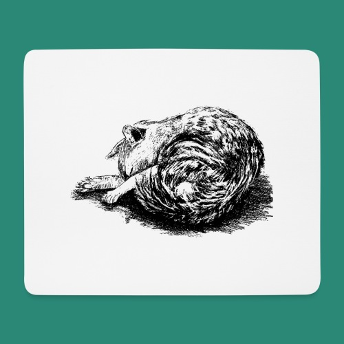 schlafende Katze - Mousepad (Querformat)