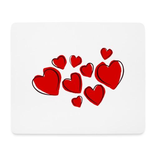 hearts herzen - Mousepad (Querformat)