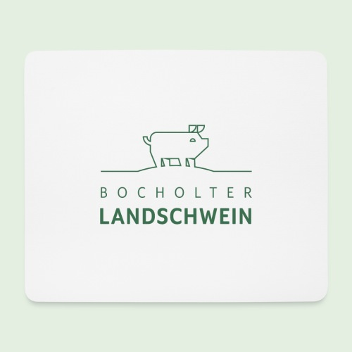 Bocholter Landschwein pur - Mousepad (Querformat)