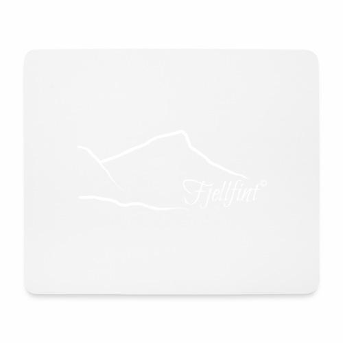 Fjellfint m/hvit logo - Musematte (liggende format)