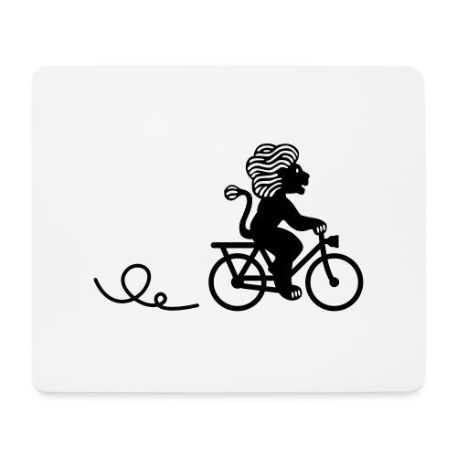 Züri-Leu beim Velofahren ohne Text - Mousepad (Querformat)