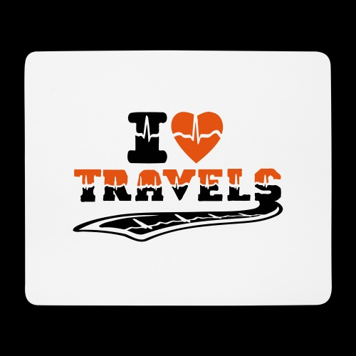 i love travels surprises 2 col - Mouse Pad (horizontal)