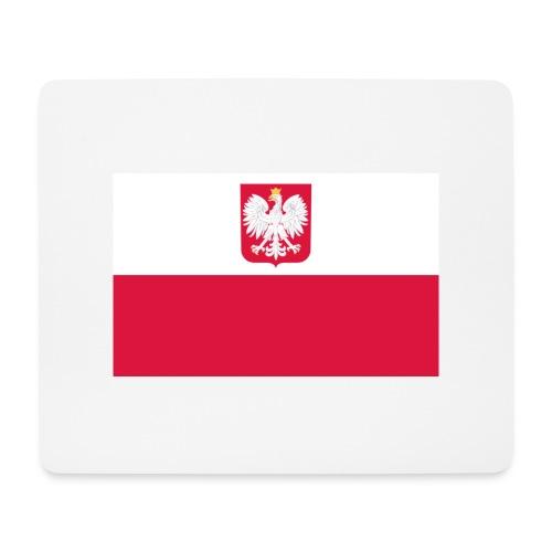 Flag of Poland with coat of arms - Podkładka pod myszkę (orientacja pozioma)
