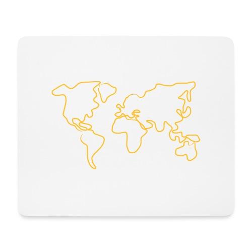 Wereldkaart - Muismatje (landscape)