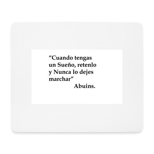 Frase camiseta Abuins 2 editado 1 - Alfombrilla de ratón (horizontal)