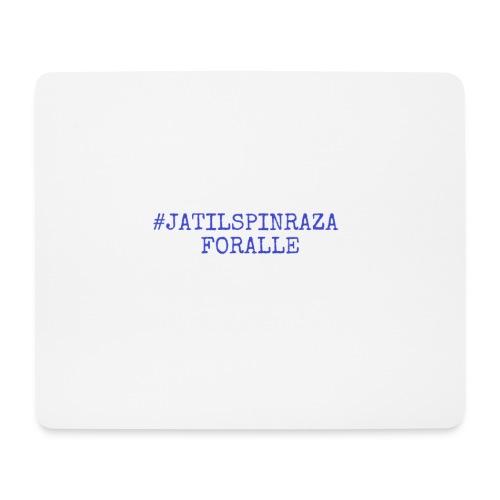 #jatilspinraza - blå - Musematte (liggende format)
