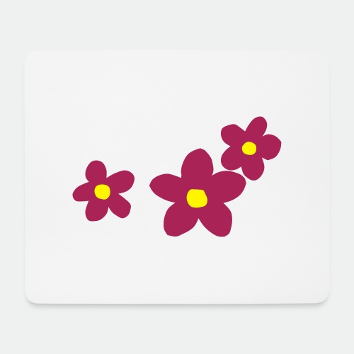 Three Flowers - Mouse Pad (horizontal)