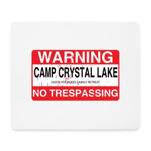 Camp Crystal Lake No Trespassing - Tapis de souris (format paysage)