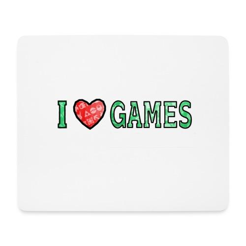 I Love Games - Podkładka pod myszkę (orientacja pozioma)