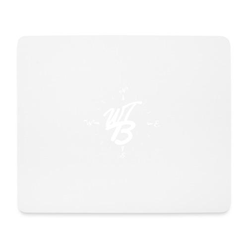 WT-BooST Cap mit weißem Logo - Mousepad (Querformat)
