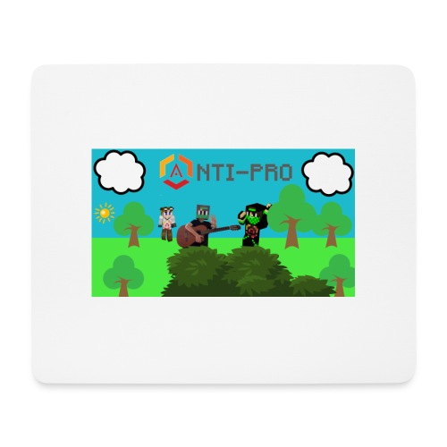 Maglietta Immagine Mario Anti-Pro - Tappetino per mouse (orizzontale)