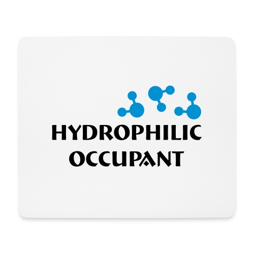 Hydrophilic Occupant (2 colour vector graphic) - Mouse Pad (horizontal)