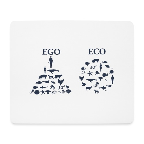 Ego VS Eco - Tappetino per mouse (orizzontale)