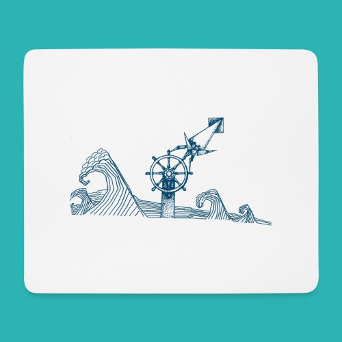 Carta_timone_blu-png - Tappetino per mouse (orizzontale)