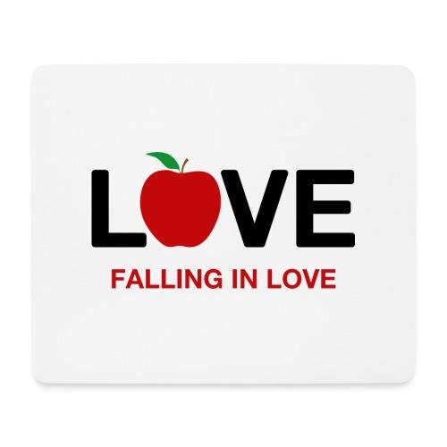 Falling in Love - Black - Mouse Pad (horizontal)