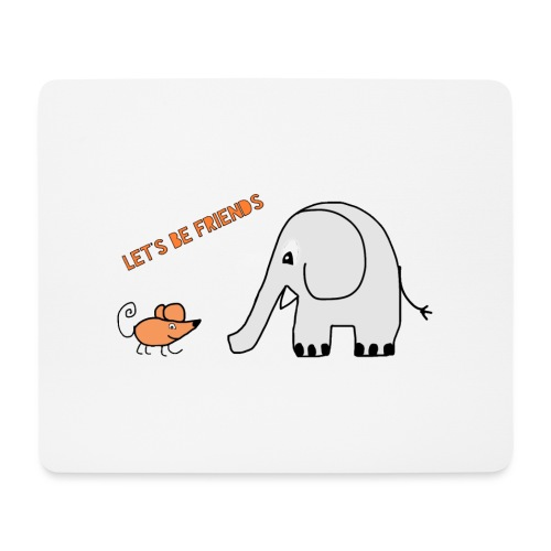 Elephant and mouse, friends - Mouse Pad (horizontal)