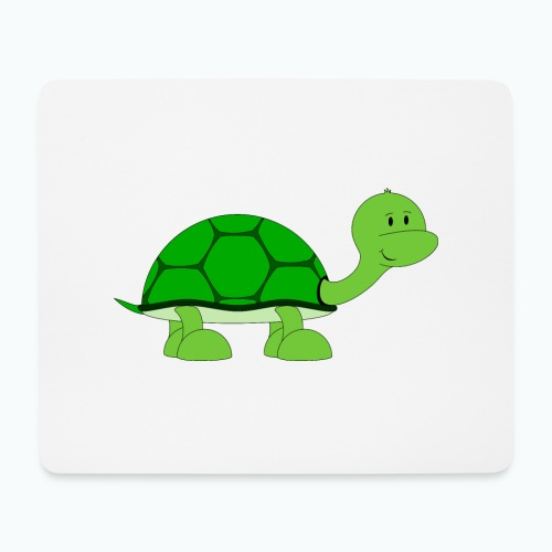 Totte Turtle - Appelsin - Musmatta (liggande format)