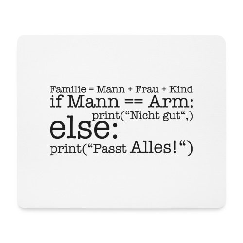 Programmierer Shirt Familie - Mousepad (Querformat)