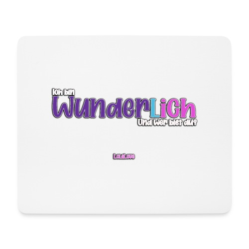 Ich bin WunderlICH - Mousepad (Querformat)