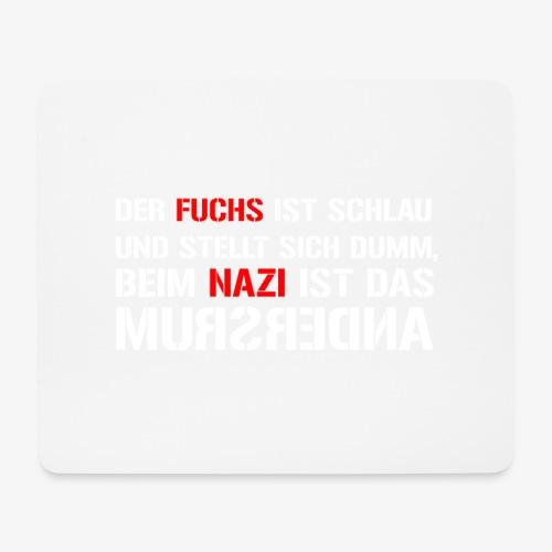 Fuchs und Nazi - Antifa - Mousepad (Querformat)
