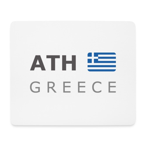 ATH GREECE dark-lettered 400 dpi - Mouse Pad (horizontal)