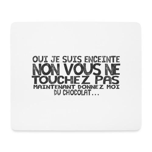 T-Shirt-Femme-Enceinte-Chocolat - Tapis de souris (format paysage)