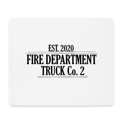 Truck Co.2 - BLACK - Mousepad (bredformat)