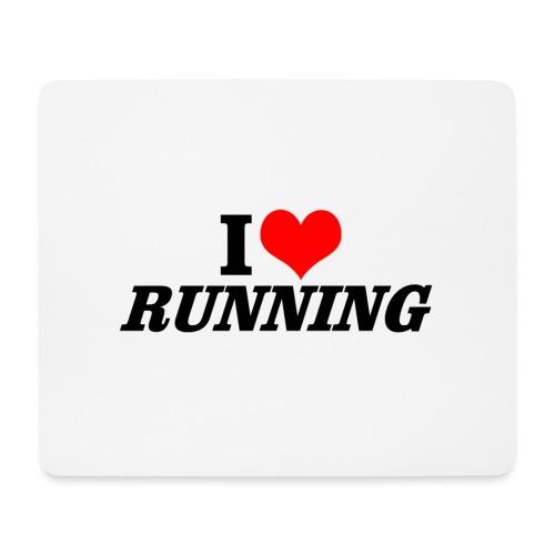 I love running - Mousepad (Querformat)