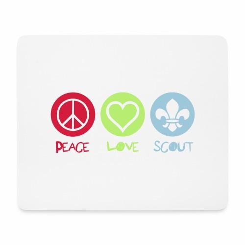 Peace Love Scout - Tapis de souris (format paysage)