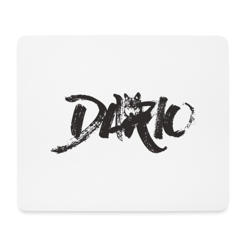 illustration logo noir - Tapis de souris (format paysage)