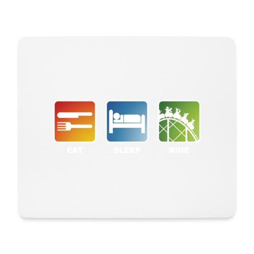Eat, Sleep, Ride! - T-Shirt Schwarz - Mousepad (Querformat)