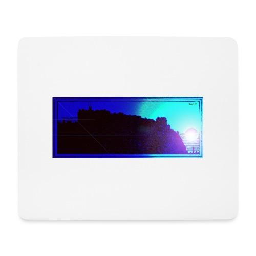 Silhouette of Edinburgh Castle - Mouse Pad (horizontal)