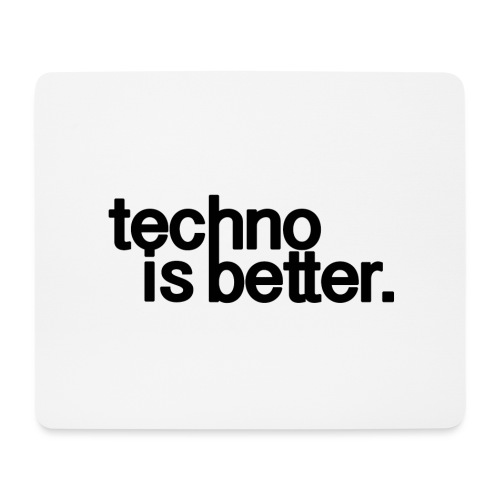techno is better logo - Podkładka pod myszkę (orientacja pozioma)