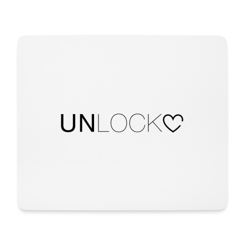 Unlock - Tappetino per mouse (orizzontale)