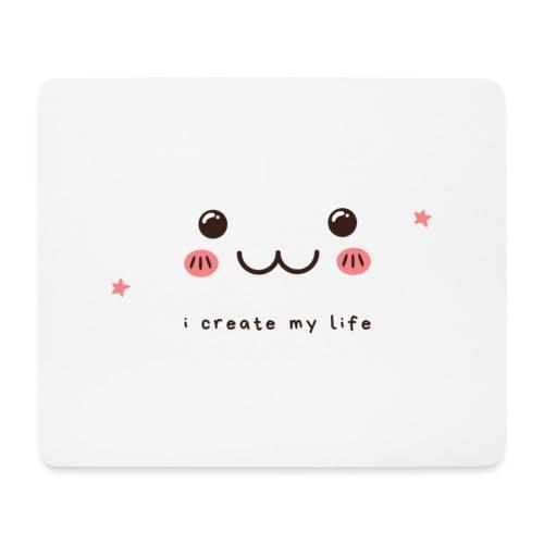 Jag skapar mitt liv motiv - Musmatta (liggande format)