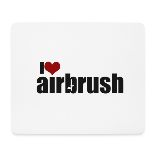 I Love airbrush - Mousepad (Querformat)