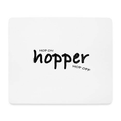 MuchoHop Hop On/Off (black) - Alfombrilla de ratón (horizontal)