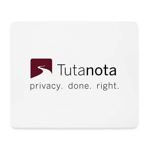 Tutanota - Privacy. Done. Right. - Mousepad (Querformat)