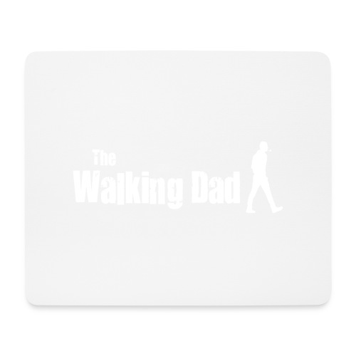 the walking dad white text on black - Mouse Pad (horizontal)