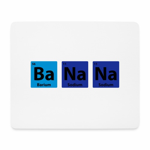 Periodic Table: BaNaNa - Mouse Pad (horizontal)