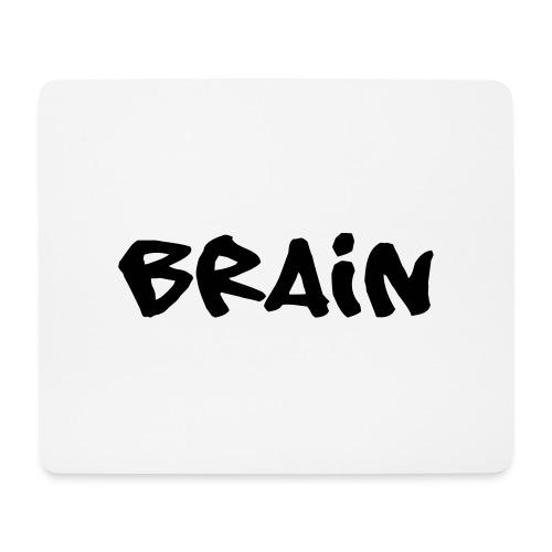 brain schriftzug - Mousepad (Querformat)