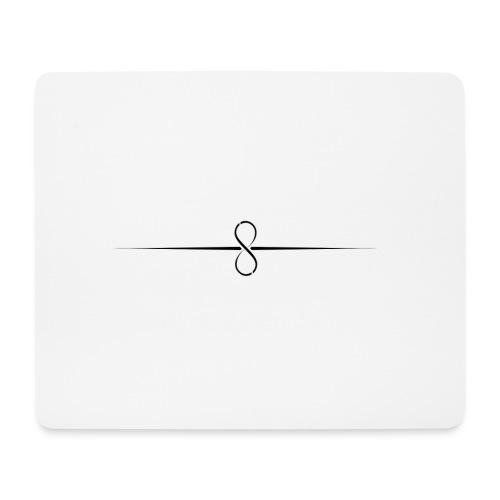 Through Infinity black symbol - Mouse Pad (horizontal)