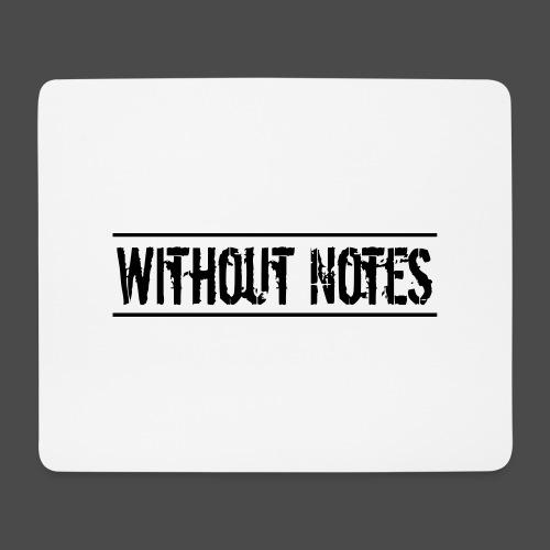 Without Notes Schriftzug Nummer 1 - Mousepad (Querformat)