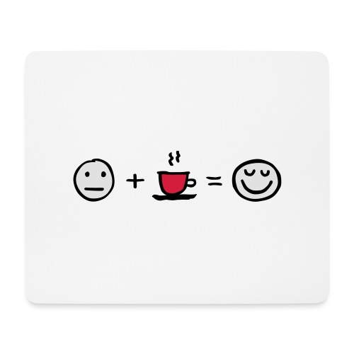 Coffee makes me happy - Mousepad (Querformat)