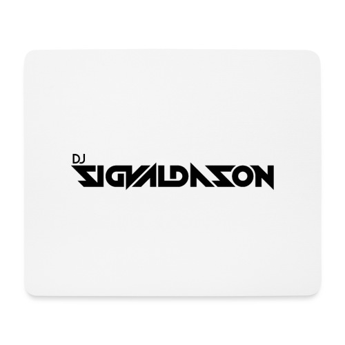 DJ logo sort - Mousepad (bredformat)
